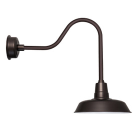 "16"" LED Sleek Indoor/Outdoor Mahogany Bronze Oldage Barn Light"