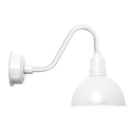 """Blackspot White 10"""" Indoor/Outdoor Vintage LED Barn Light"""
