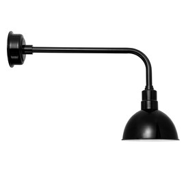 "Blackspot 10"" Traditional Black LED Barn Lights"