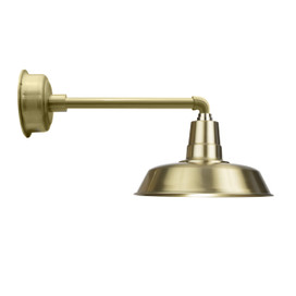 "Solid Brass 16"" Indoor/Outdoor Oldage Metropolitan LED Barn Light"