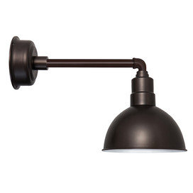 "Mahogany Bronze Metropolitan 10"" Blackspot Indoor/Outdoor LED Barn Lights"