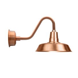 "16""Solid Copper Oldage Vintage Indoor/Outdoor LED Barn Light"