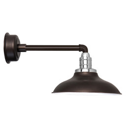 "10"" Peony Mahogany Bronze Metropolitan Indoor/Outdoor LED Barn Lights"