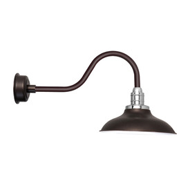 "Contemporary 10"" Peony Mahogany Bronze LED Barn Lights"
