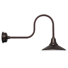 "Mahogany Bronze 16"" Calla Industrial Indoor/Outdoor LED Barn Light"