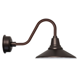 "Rustic Calla 16""Mahogany Bronze Indoor/Outdoor LED Barn Light"