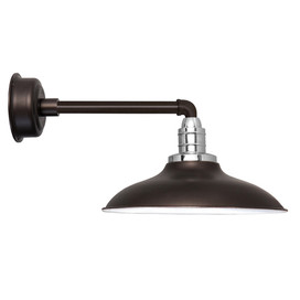 "12"" Mahogany Bronze Peony Metropolitan Indoor/Outdoor LED Barn Lights"