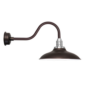 "12"" Mahogany Bronze Peony Contemporary LED Barn Lights"