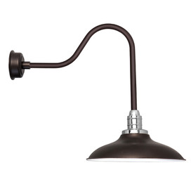 "12"" Mahogany Bronze Sleek Peony LED Barn Lights"
