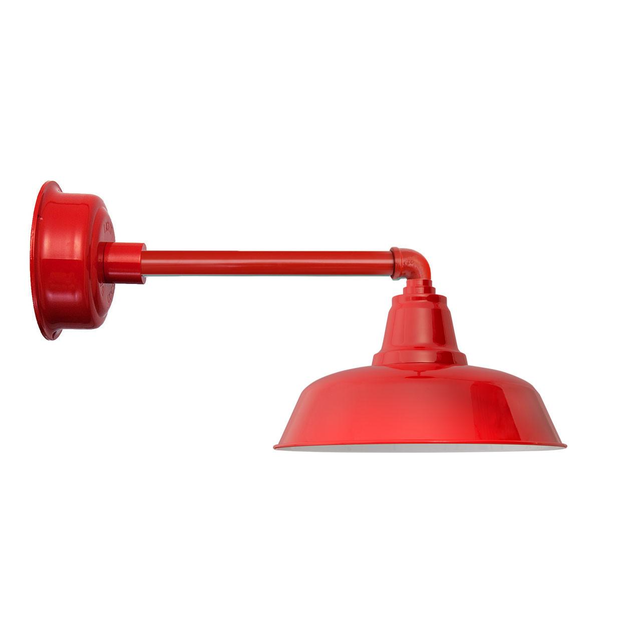 "Goodyear 1 Light Outdoor Barn Light: Goodyear Cherry Red Metropolitan Indoor/Outdoor 14"" LED"