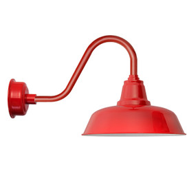 "Rustic Cherry Red Goodyear 14"" LED Barn Lights"