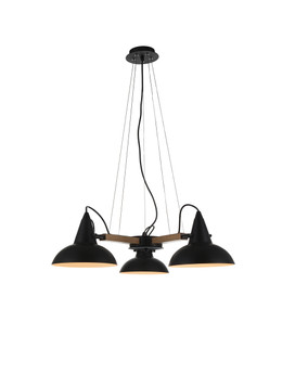 Amatrice 3 Light LED Chandelier in Black