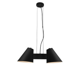 Perugia 2 Light LED Chandelier in Black