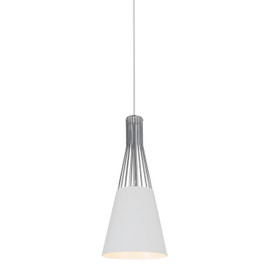 "8"" Vercelli LED Pendant Light in White"
