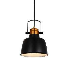 "9"" Arezzo LED Pendant Light in Black"