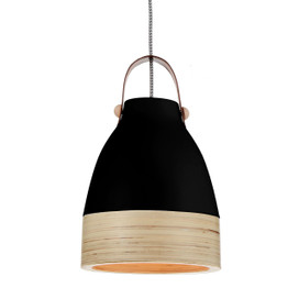 "9"" Norcia LED Pendant Light in Black"