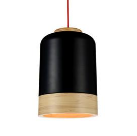 "9"" Novara LED Pendant Light in Black"