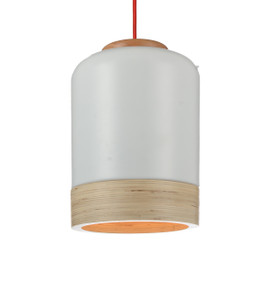 "9"" Novara LED Pendant Light in White"