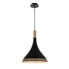 "12"" Todi LED Pendant Light in Black"