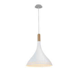 "12"" Todi LED Pendant Light White"