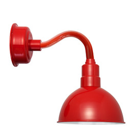 "8"" Blackspot LED Sconce Light with Chic Arm in Cherry Red"