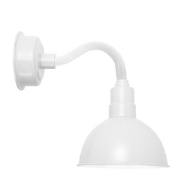 "8"" Blackspot LED Sconce Light with Chic Arm in White"