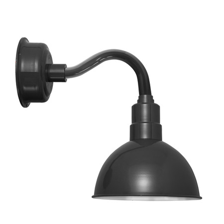 "10"" Blackspot LED Sconce Light with Chic Arm in Black"