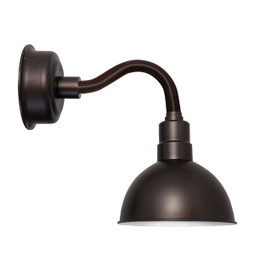 "12"" Blackspot LED Sconce Light with Chic Arm in Mahogany Bronze"