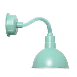 "14"" Blackspot LED Sconce Light with Chic Arm in Jade"
