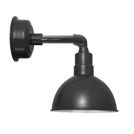 "8"" Blackspot LED Sconce Light with Cosmopolitan Arm in Black"