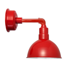 "8"" Blackspot LED Sconce Light with Cosmopolitan Arm in Cherry Red"
