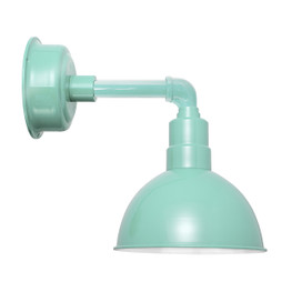 "8"" Blackspot LED Sconce Light with Cosmopolitan Arm in Jade"