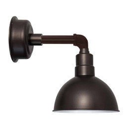 "12"" Blackspot LED Sconce Light with Cosmopolitan Arm in Mahogany Bronze"