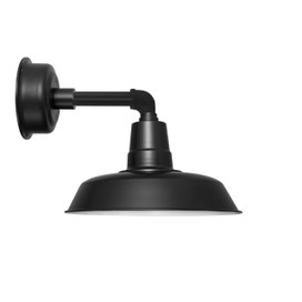 "14"" Oldage LED Sconce Light with Cosmopolitan Arm in Matte Black"