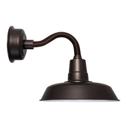 "14"" Oldage LED Sconce Light with Chic Arm in Mahogany Bronze"
