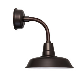 "12"" Oldage LED Sconce Light with Trim Arm in Mahogany Bronze"