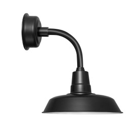 "12"" Oldage LED Sconce Light with Trim Arm in Matte Black"