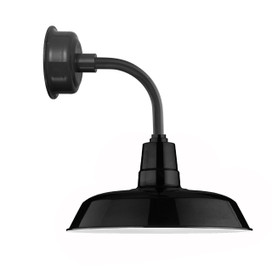"14"" Oldage LED Sconce Light with Trim Arm in Black"