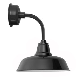 "12"" Goodyear LED Sconce Light with Trim Arm in Black"