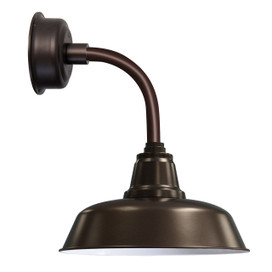 "14"" Goodyear LED Sconce Light with Trim Arm in Mahogany Bronze"