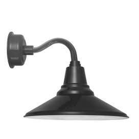 "12"" Calla LED Sconce Light with Chic Arm in Black"