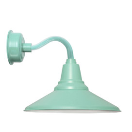 "12"" Calla LED Sconce Light with Chic Arm in Jade"