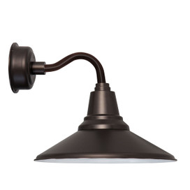 "12"" Calla LED Sconce Light with Chic Arm in Mahogany Bronze"