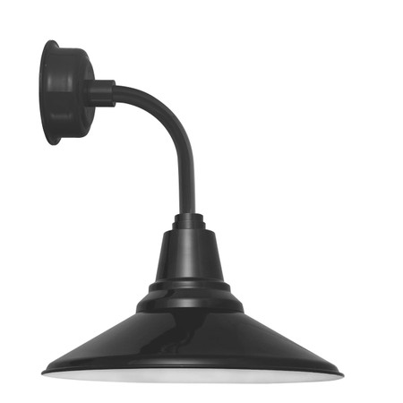 """12"""" Calla LED Sconce Light with Trim Arm in Black"""