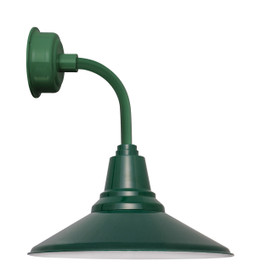 "14"" Calla LED Sconce Light with Trim Arm in Vintage Green"