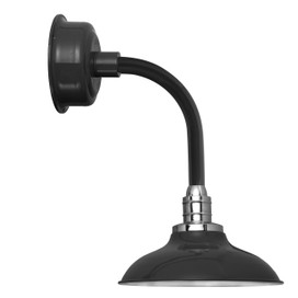 "12"" Peony LED Sconce Light with Trim Arm in Black"