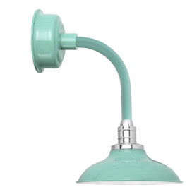 "12"" Peony LED Sconce Light with Trim Arm in Jade"
