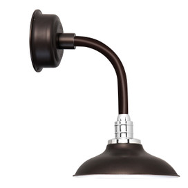 "12"" Peony LED Sconce Light with Trim Arm in Mahogany Bronze"