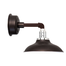 "10"" Peony LED Sconce Light with Cosmopolitan Arm in Mahogany Bronze"
