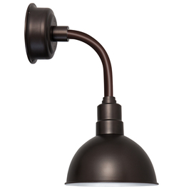 "12"" Blackspot LED Sconce Light with Trim Arm in Mahogany Bronze"